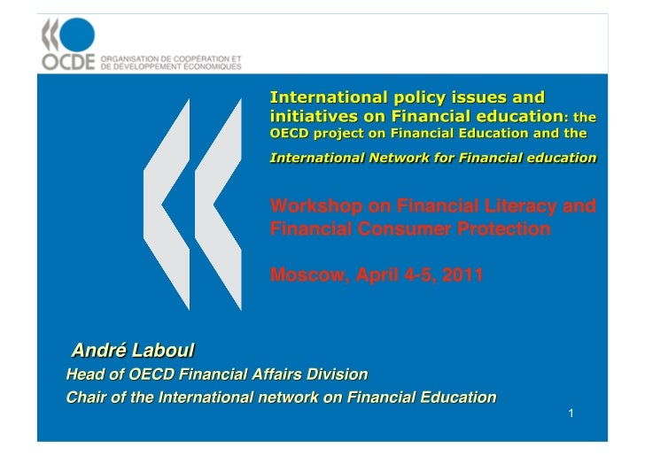 International policy issues and initiatives on Financial education
