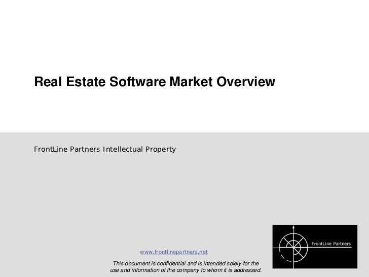 FrontLine Partners Viewpoint Series       Real Estate Software Market Overview          Market Sizing and Segmentation   ...