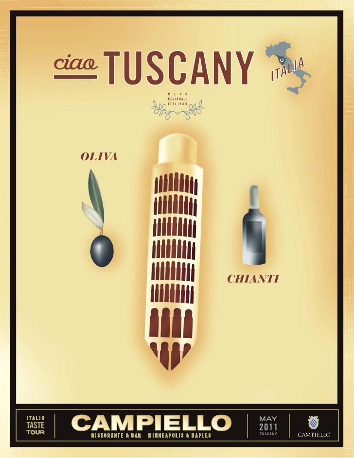 Campiello Florida May Menu: Tuscany