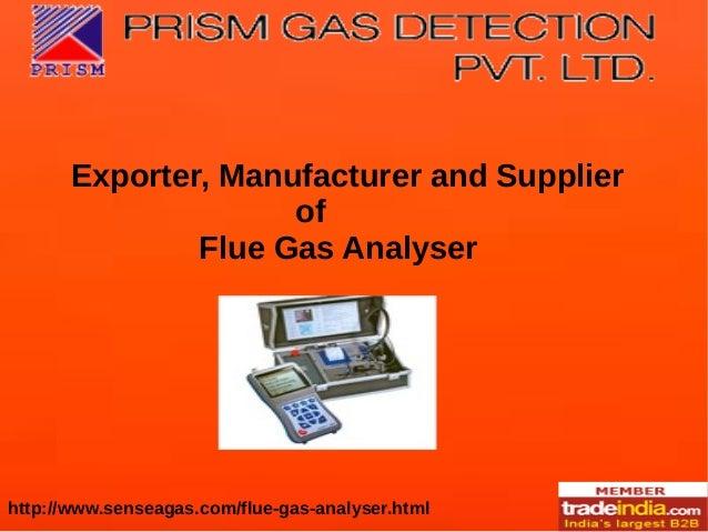 Flue Gas Analyser Manufacturer, Exporter, Mumbai, PRISM GAS DETECTION PVT LTD