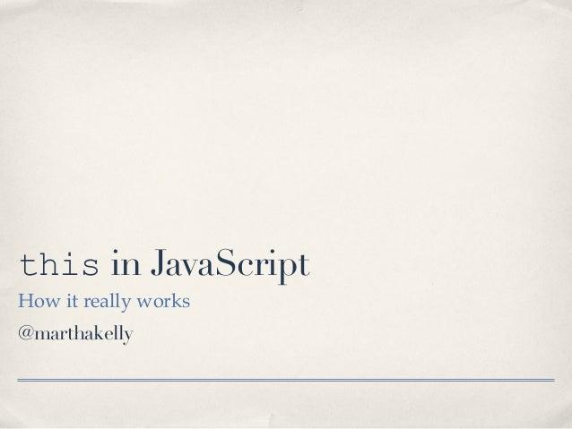 """this"" in JavaScript"