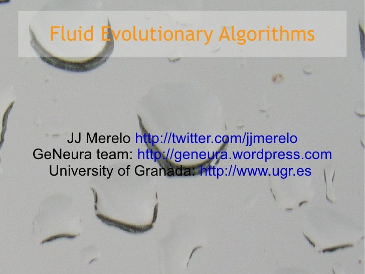 Fluid Evolutionary Algorithms