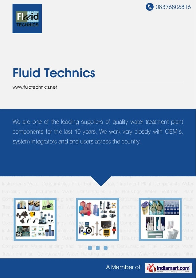 Water Treatment Plant Components by Fluid technics