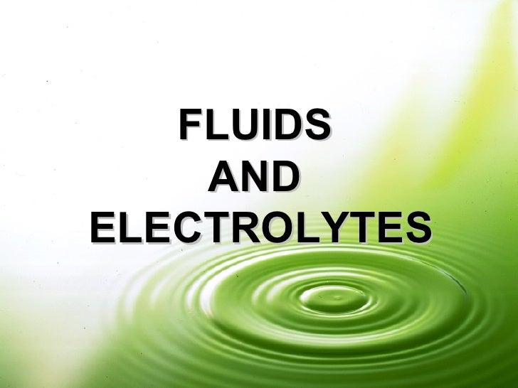 Fluidsandelectrolytes