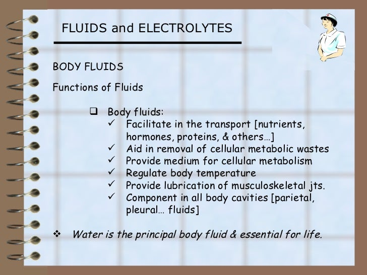 Fluids and electrolytes (1)