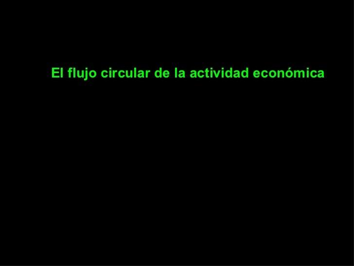 Flujo Circular en la economía
