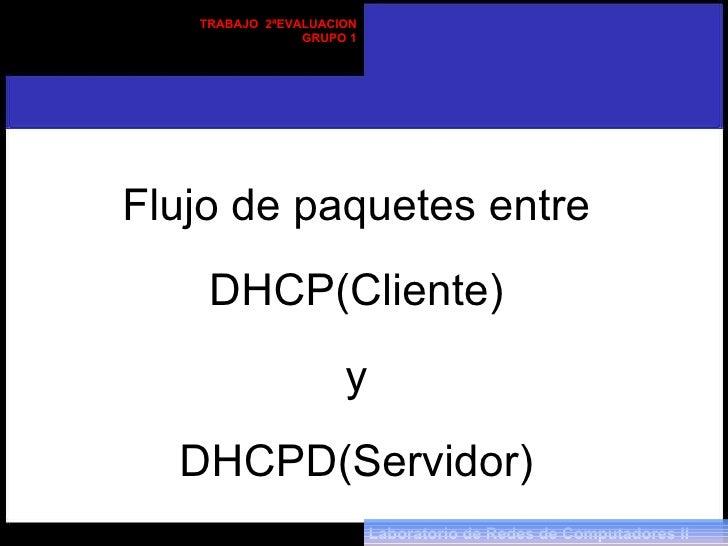 Flujo De Paquetes Entre Dhcpd Y Cliente Dhcp