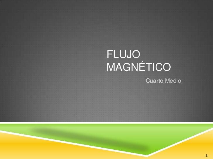 FLUJOMAGNÉTICO     Cuarto Medio                    1