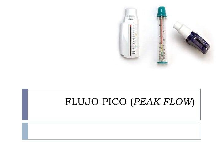 FLUJO PICO (PEAK FLOW)<br />