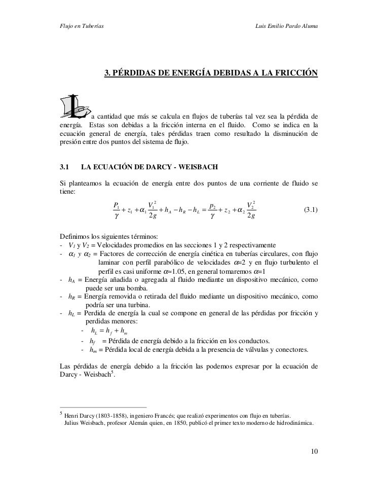 Flujo en Tuberías                                                              Luis Emilio Pardo Aluma                    ...