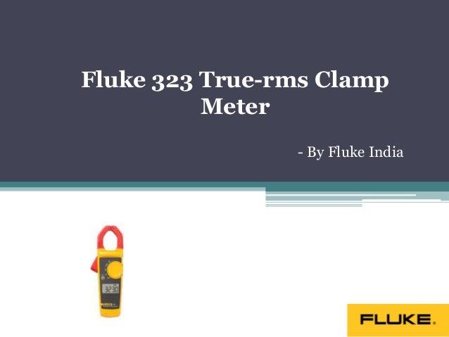 True Rms Clamp Meter Fluke 323 True Rms Clamp Meter