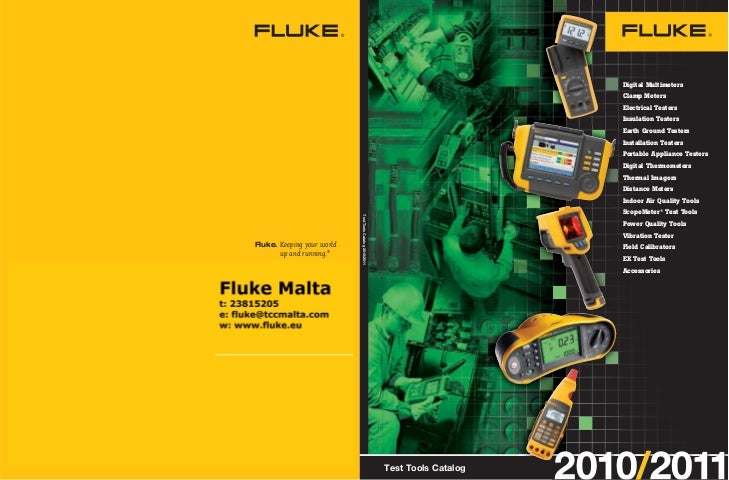 Fluke Test Tools Catalog 2010/2011