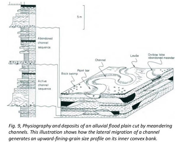 sedimentary environment (fluvial channel)