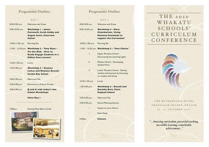Programme Outline:                                  Programme Outline                                                     ...