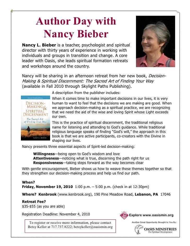 Nancy Bieber Author Day