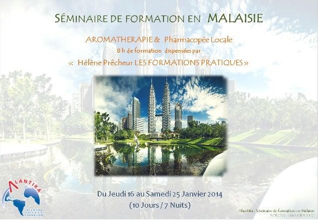 Voyage pharmaciens Malaisie