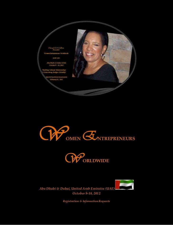 Flyer black background-02-27-2012-women entrepreneurs worldwide-fyer updated-02-25-12-letter to participants-02-17-12-dear participants