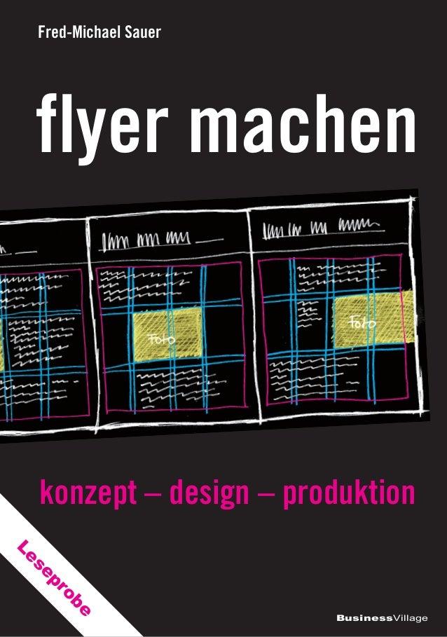 Fred-Michael Sauer  flyer machen  konzept – design – produktion pr se  Le e ob  BusinessVillage
