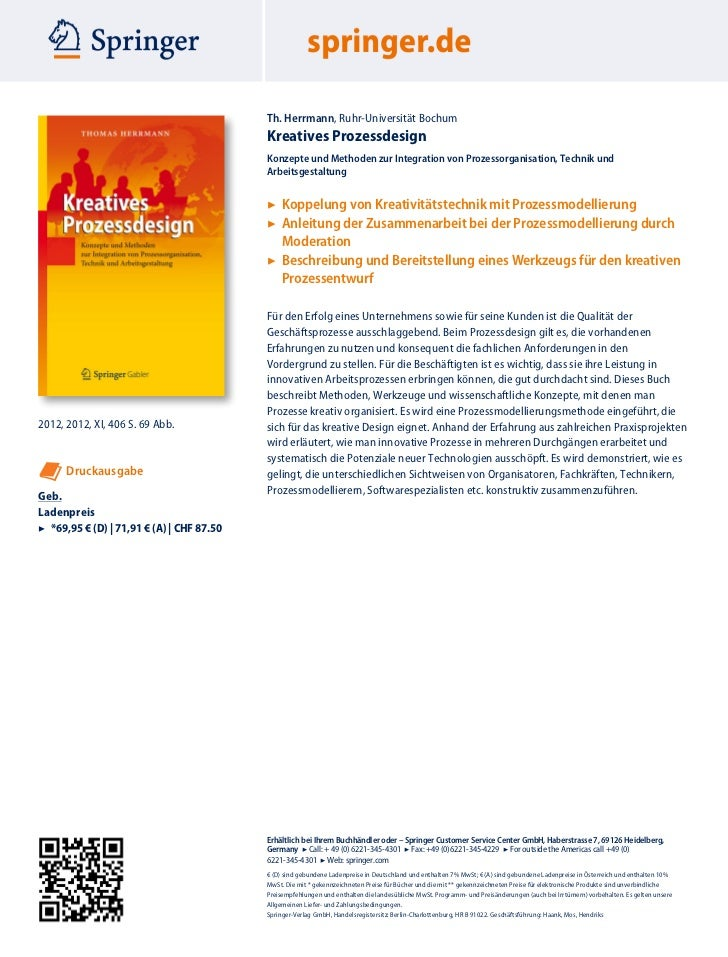 Th. Herrmann, Ruhr-Universität Bochum                                           Kreatives Prozessdesign                   ...