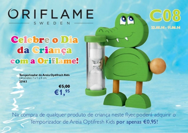 Flyer do Catálogo Oriflame 8 2014