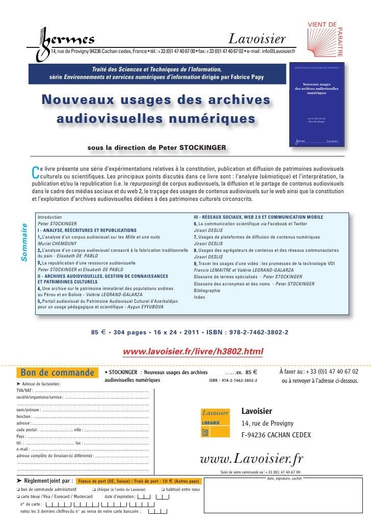 Nouveaux usages des archives audiovisuelles numériques
