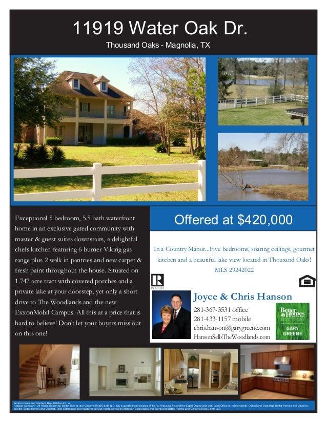 11919 Water Oak Dr.                                                                          Thousand Oaks - Magnolia, TXE...