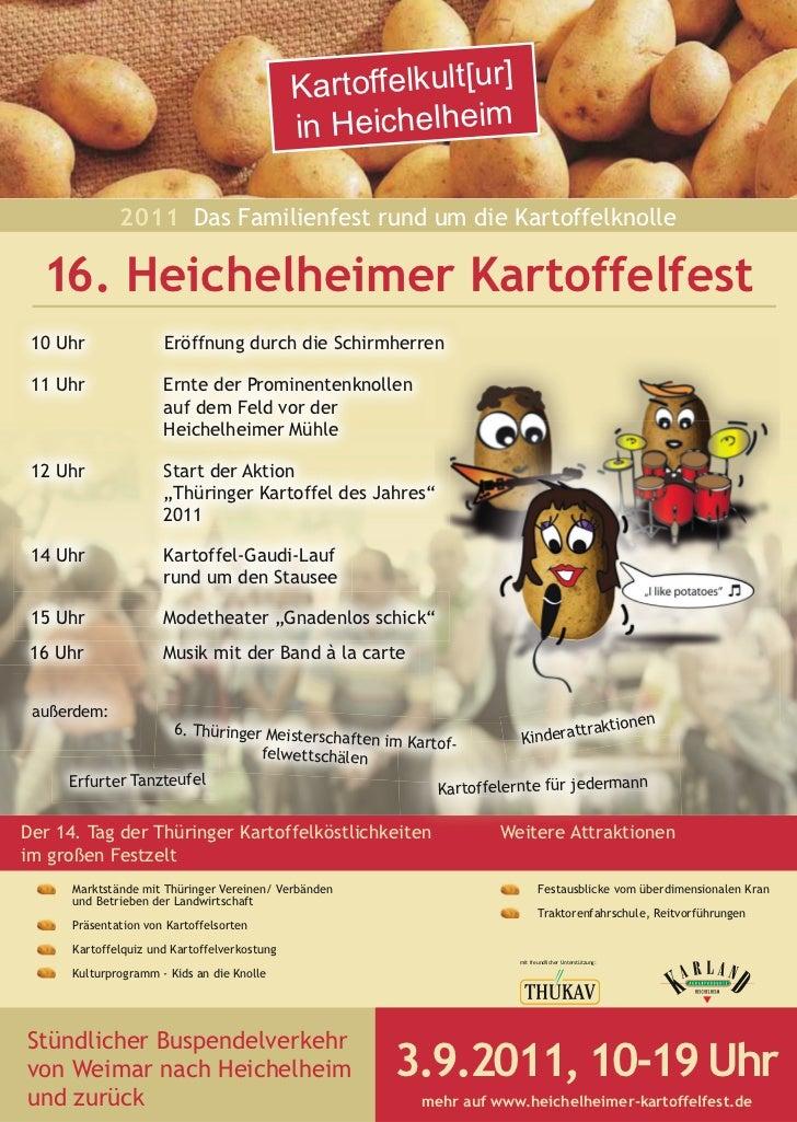 Kartoffelkult[ur]                                              in Heichelheim              2011 Das Familienfest rund um d...