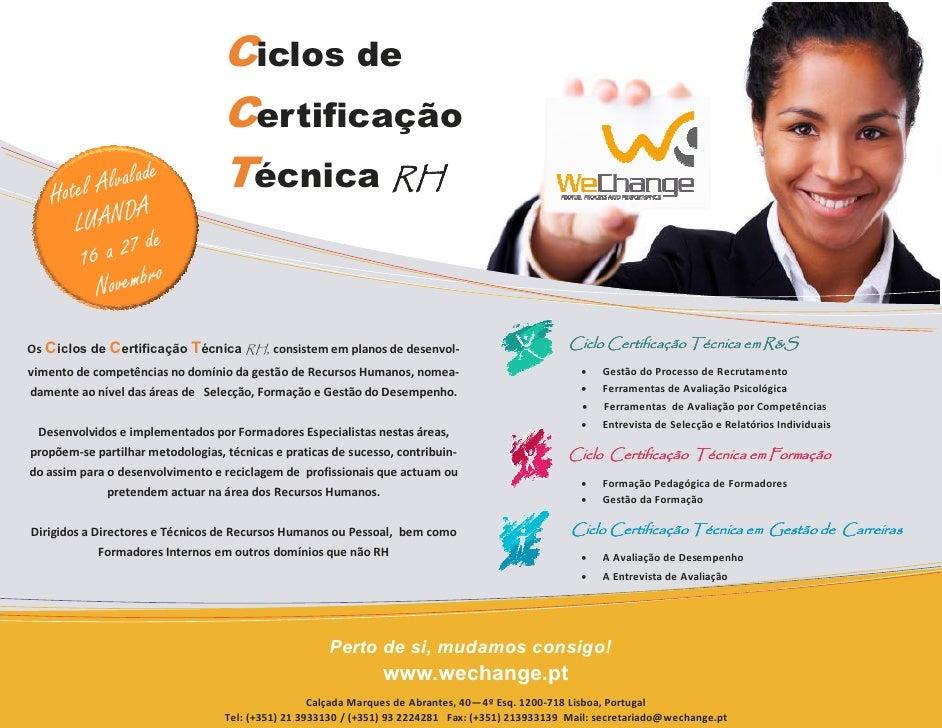 Ciclos de                                    Certificação     Hotel Alvalad                  e                 Técnica RH ...