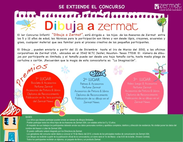 """SE EXTIENDE EL CONCURSO                                Dibuja a  El 1er Concurso Infantil """"Dibuja a Zermat"""", está dirigido..."""