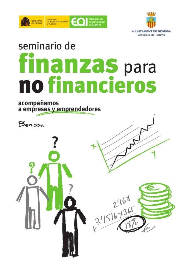 acompañamos a empresas y emprendedores seminario de finanzas para no financieros Benissa