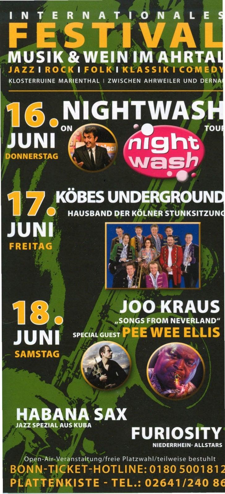 NightWashdie Kult- Comedy Showon Tour! NightWash ist die Stand-Up Comedy Show von und mit Klaus-Jürgen Deuser und jun- gen...