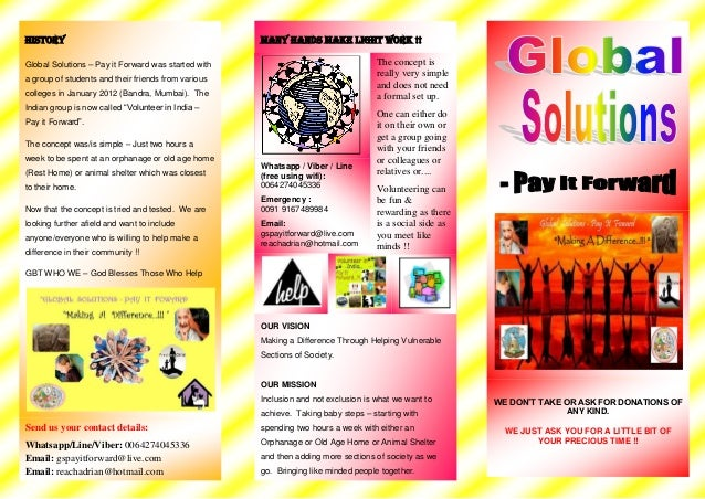 Flyer global solutions   pay it forward