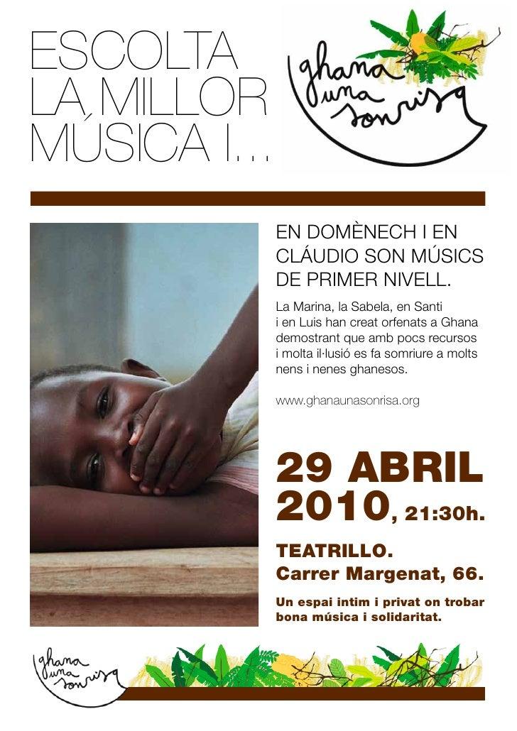 Flyer Concert Ghana una sonrisa
