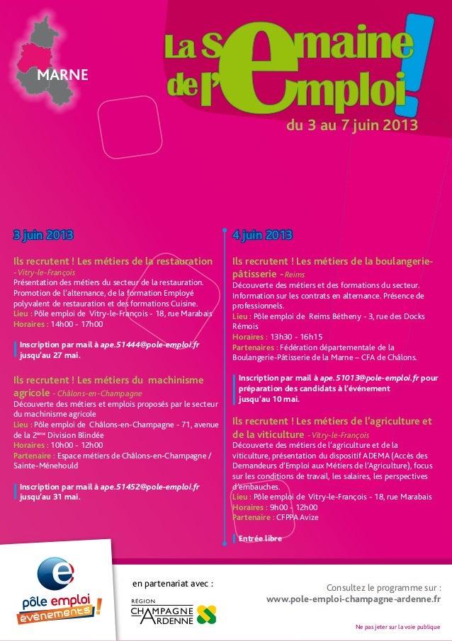 MARNEdu 3 au 7 juin 20133 juin 2013Ils recrutent ! Les métiers de la restauration-Vitry-le-FrançoisPrésentation des métier...