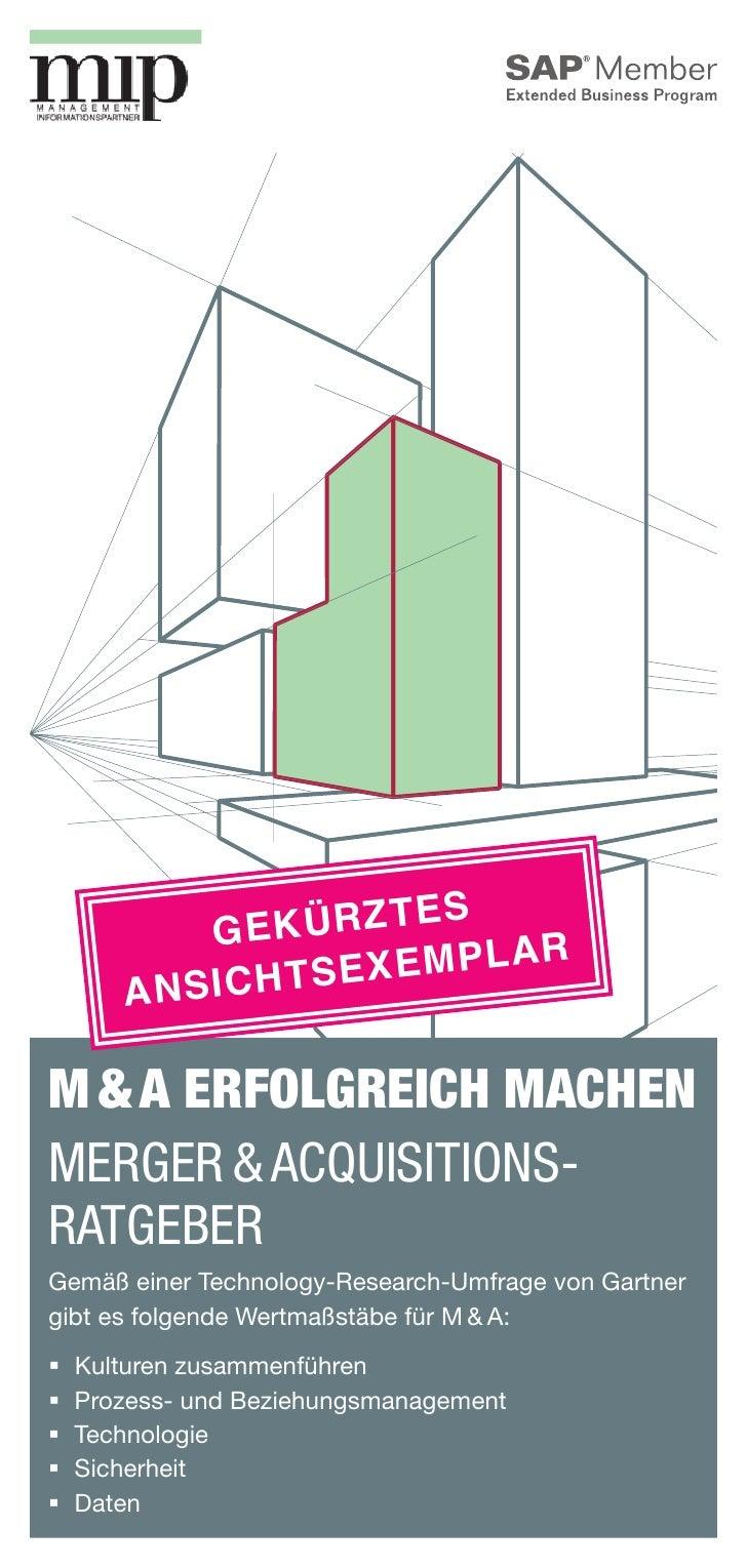 es            Gekürzt                    emplar        An sichtsexM&A erfolgreich machenMerger&Acquisitions-RatgeberGe...