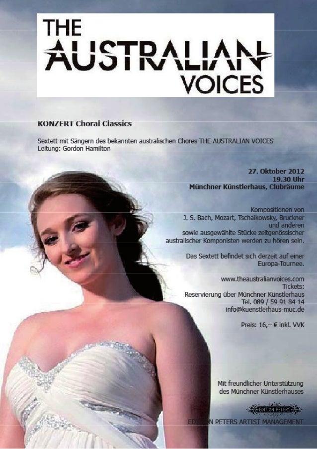 Flyer München Australian Voices SIX