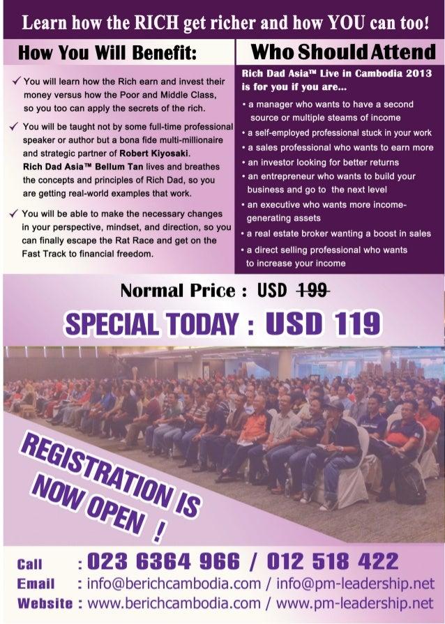 Rich Dad Asia Workshop Live in Cambodia