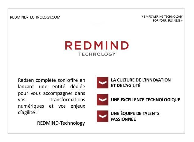 Redsen complète son offre en lançant une entité dédiée pour vous accompagner dans vos transformations numériques et vos en...