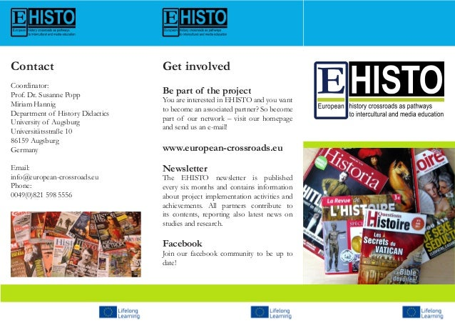 Get involvedBe part of the projectYou are interested in EHISTO and you wantto become an associated partner? So becomepart ...