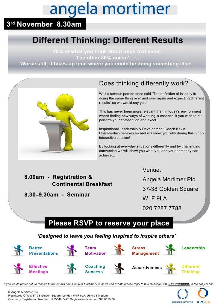 3 rd  November  8.30am Stress  Management Team  Motivation Better  Presentations Leadership 8.00am  -  Registration &   Co...