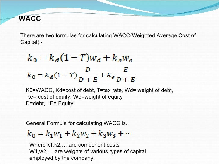 Weighted average coupon rate formula