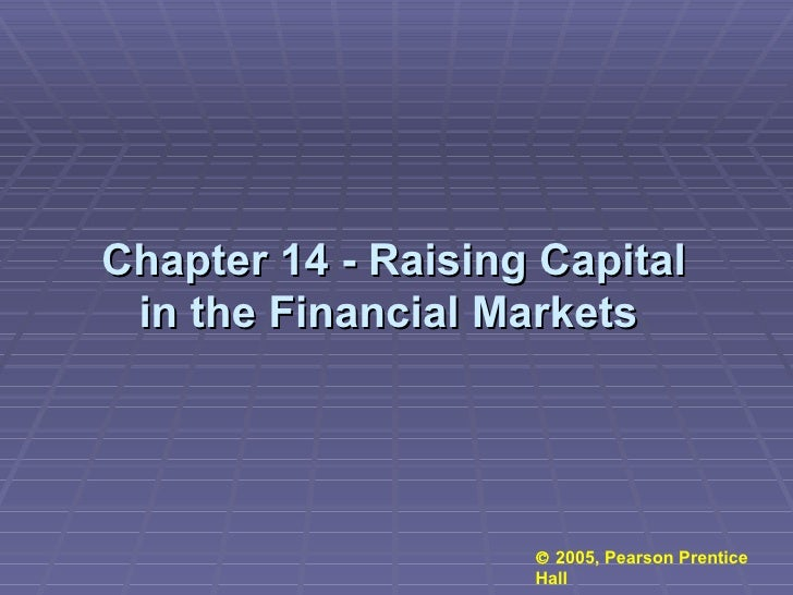 Chapter 14 - Raising Capital in the Financial Markets      2005, Pearson Prentice Hall