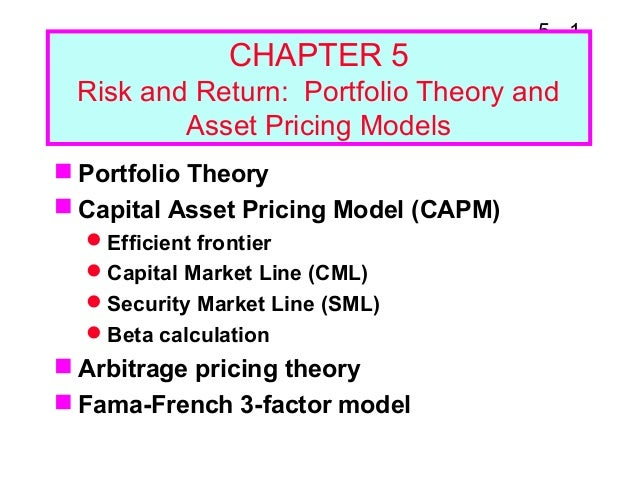 capital asset pricing model and portfolio I readings and suggested practice problems ii introduction: from assumptions  to implications iii the market portfolio iv assumptions underlying the capm.