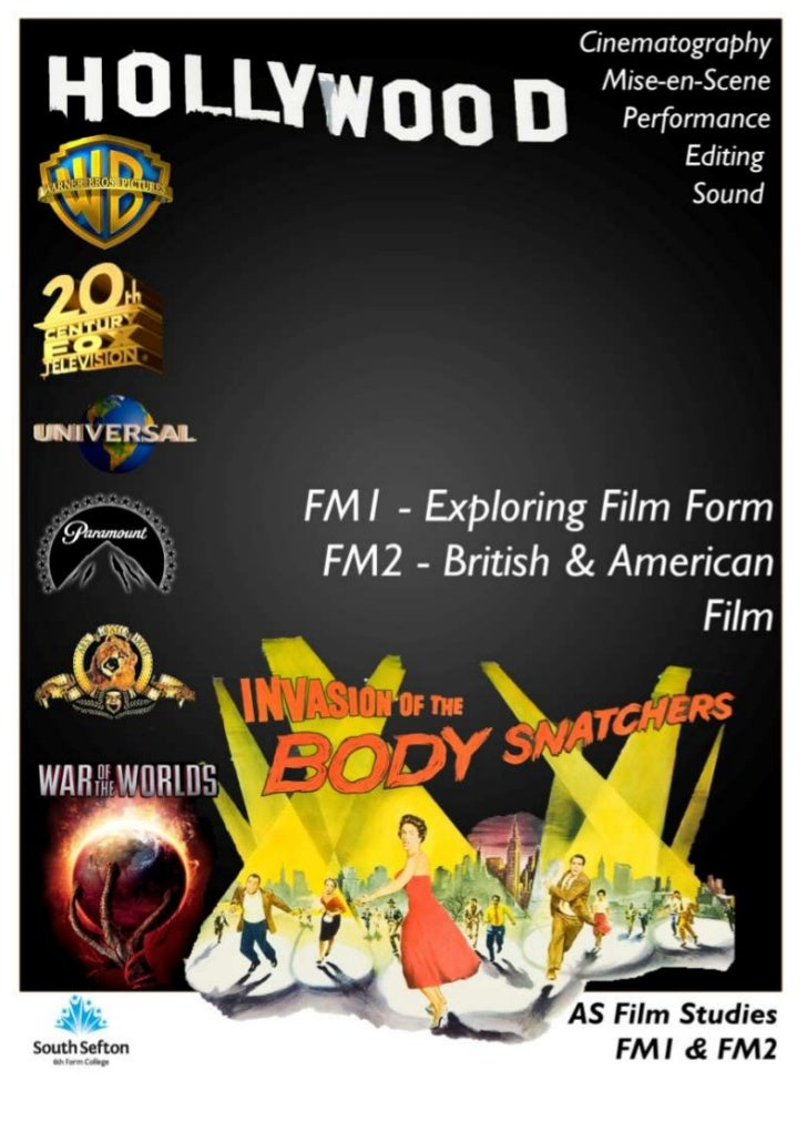 AS FILM STUDIES               The Film Studies 'A' Level course is split in to four distinct units                        ...