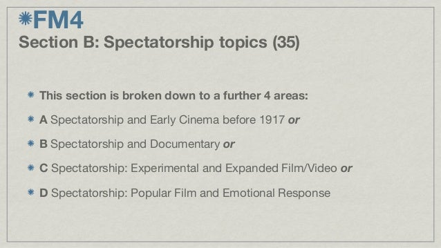 Film Studies A Level?