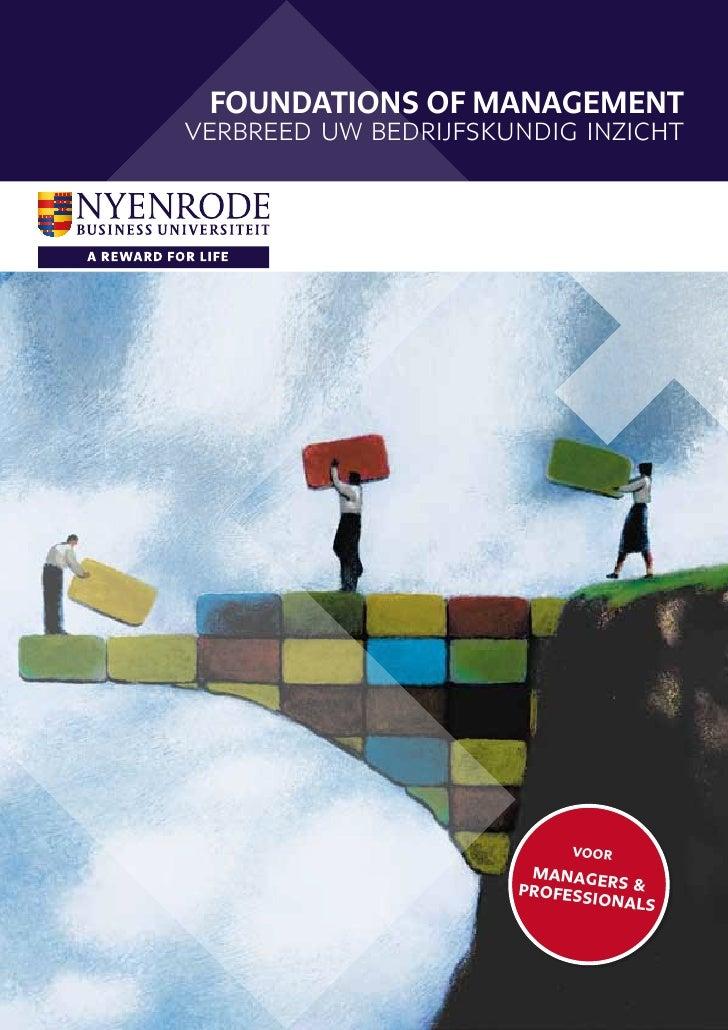 Foundations of Managementverbreed uw bedrijfskundig inzicht                           voor                       manager  ...