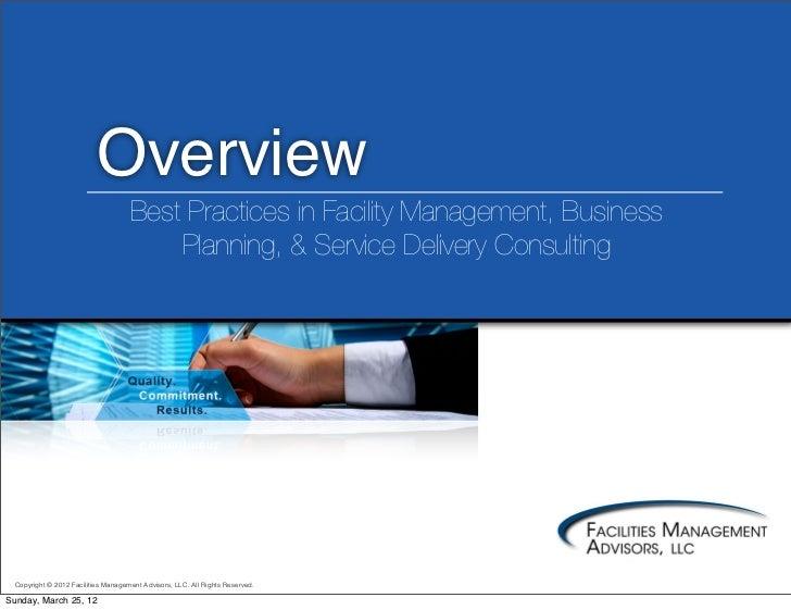 Facilities Management Advisors, LLC Overview