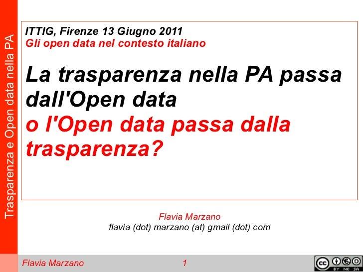 Trasparenza e Open Data