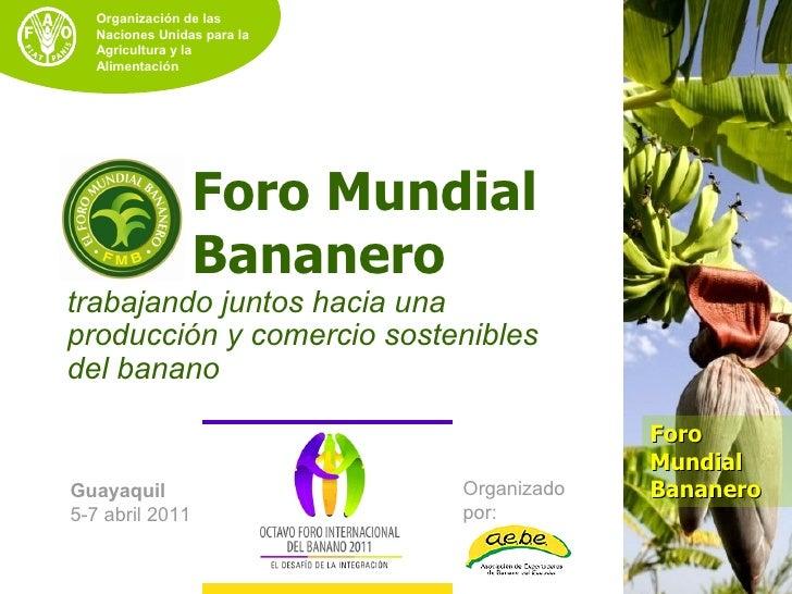 Organización de las   Naciones Unidas para la   Agricultura y la   Alimentación                 Foro Mundial              ...