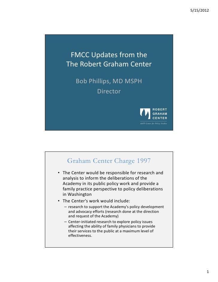 Graham Center FMCC Presentation